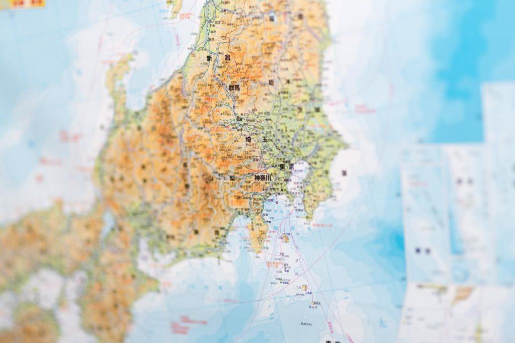 引越し費用ー日本地図