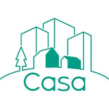 家賃保証会社『casa』のロゴ写真