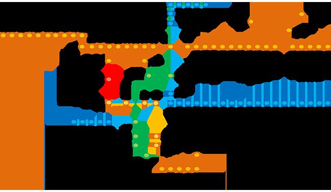 【上石神井駅の1人暮らし】西武線路線図