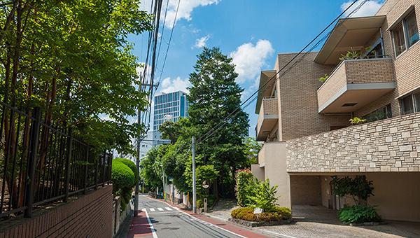 高級低層住宅街の写真