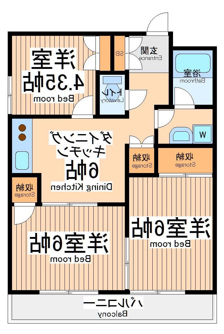 室内写真①【初期費用10万以下】都内3DKで広々!エントランスもオシャレ♪賃料82000円!