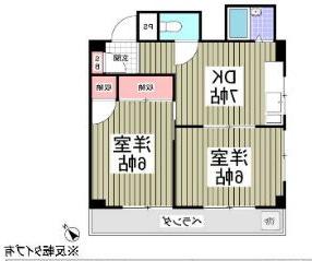 室内写真⑨【初期費用10万以下】池袋30分!広々2DKタイプのオシャレマンション♪賃料53000円!