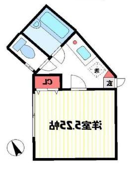 室内写真④【初期費用10万以下】新宿直通30分・駅近で部屋もキレイです!賃料45000円!