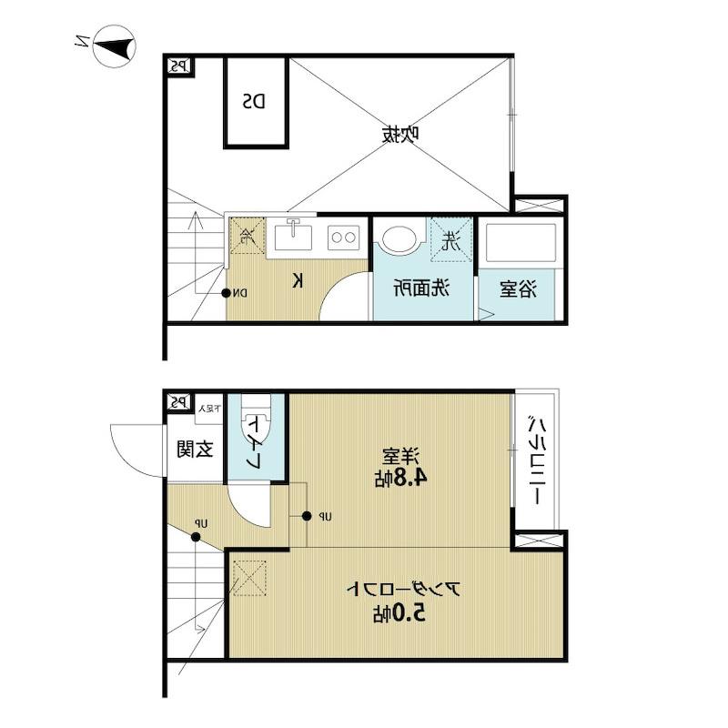 室内写真⑨【初期費用10万以下】東京40分!内装オシャレなオートロック付物件♪賃料55000円!