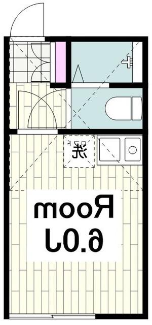 室内写真⑨【初期費用10万以下】渋谷30分!築浅レンガ調の可愛い外観で家電付♪賃料54000円!