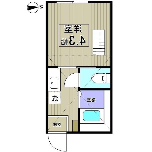 室内写真⑨【初期費用10万以下】渋谷25分!ネット無料築浅ロフト付き物件♪賃料62000円!