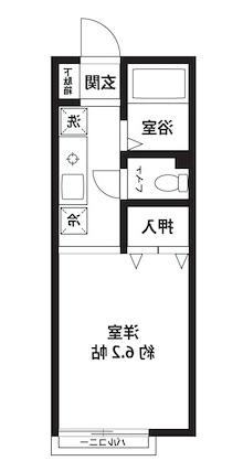 室内写真⑨【初期費用10万以下】渋谷33分!オール電化バストイレ別物件♪賃料50000円!
