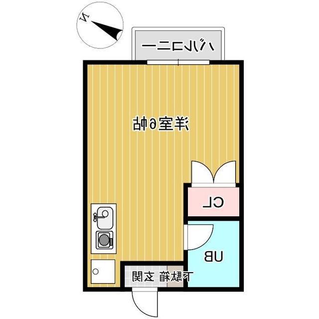 室内写真⑨【初期費用10万以下】渋谷30分!ネット無料ワンルーム物件♪賃料44000円!