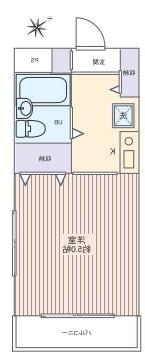 室内写真②【初期費用10万以下】渋谷直通37分!オートロック最上階角部屋♪賃料39000円!