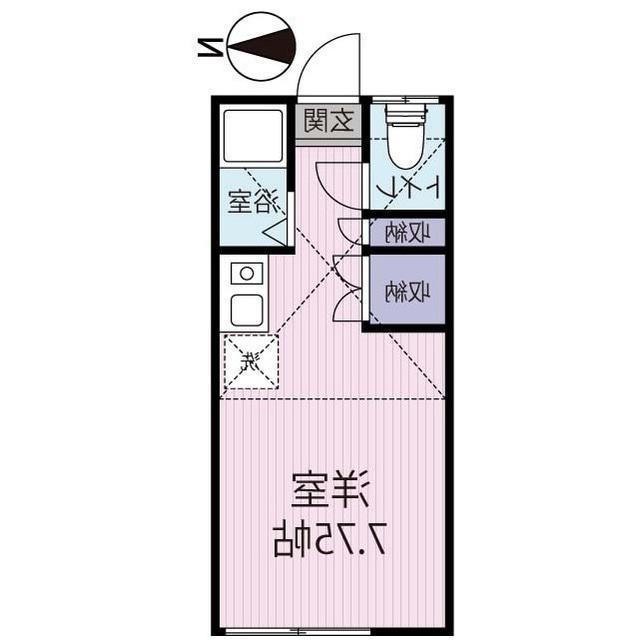 室内写真①【初期費用10万以下】新宿まで35分!ロフト付き広々7.5畳♪賃料40000円!