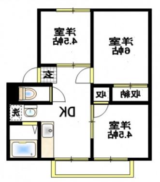 室内写真⑨【初期費用10万以下】池袋27分!広々3DKタイプ♪賃料60000円!